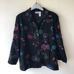 Koret light jacket beautiful embroidery size 16W